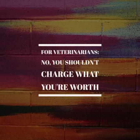 For Veterinarians: No, You Shouldn't Charge What You're Worth